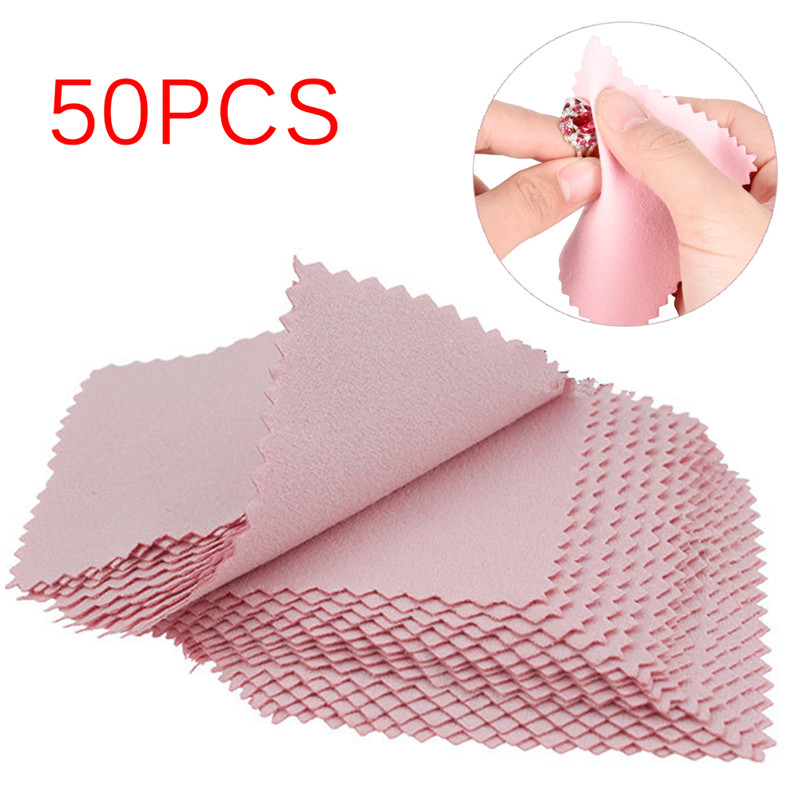 50pcs/Pack  Polish Cleaning Polishing Cloth With Package Cleaning Cloth Wiping Cloth Of  Jewelry