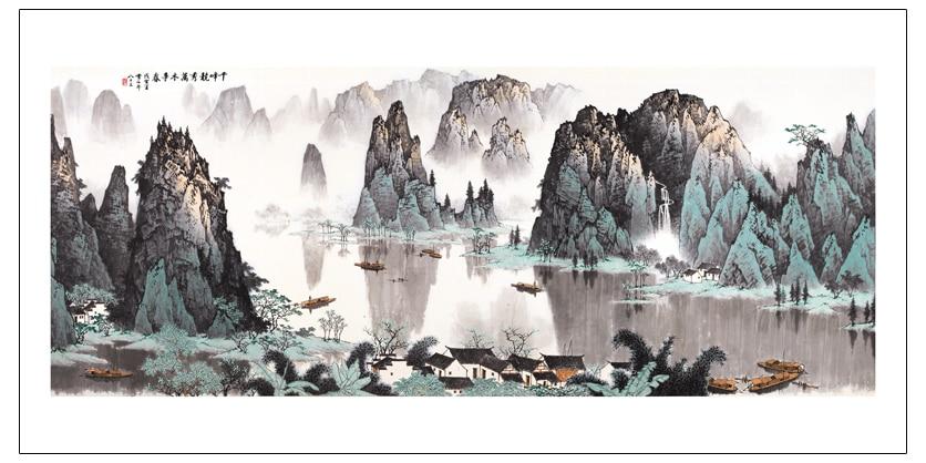 Alibaba グループ   AliExpress.comの 絵画&書道 からの 伝統的な中国絵画の風景風景絵画