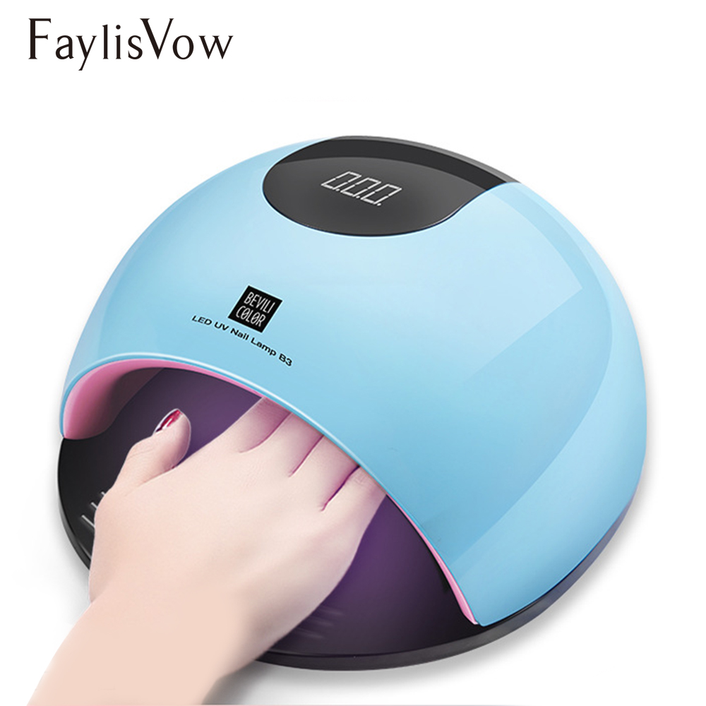 80W UV Led Lamp Nail Dryer for Manicure SUN Light Lamp for Nails Curing All Gel Polish Sensor Machine Nail Art LED Dryer Tools 50w uv led lamp nail dryer 28pcs led light with infrared red light skin care mode nail lamp for curing gel polish manicure tools