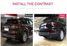 Стайлинга автомобилей 2 шт. ABS Матовый задний хвост туман осветительная лампа полосы Накладка для Porsche Cayenne 3rd Gen (PO536) 2018 2019