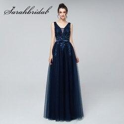 Длинное вечернее платье, с треугольным вырезом и кружевной аппликацией, из тюля, с бусинами, длиной до пола, для свадьбы, для выпускного бала,...