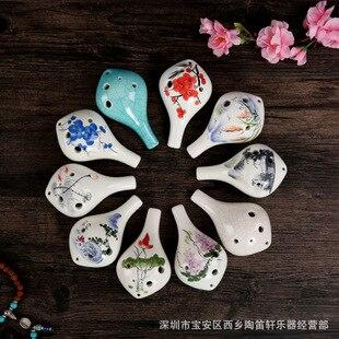 Pintura chinesa projeto 12 buraco ocarina alto