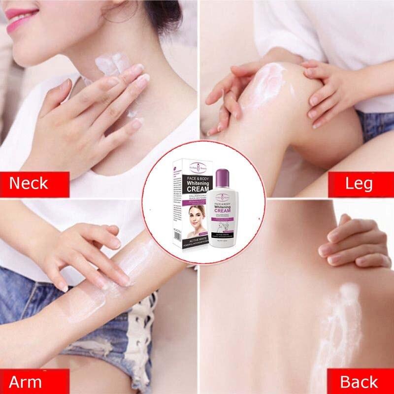 NEW Beauty Face Body Whitening Cream Fast For Dark Skin Bleaching Knee Elbow Inner Thigh