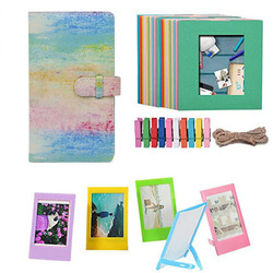for Fujifilm Instax Mini 9 or Mini 8 Instant Camera Accessories Bundle Gift Set Kit Includes Albums,Hanging + Frames