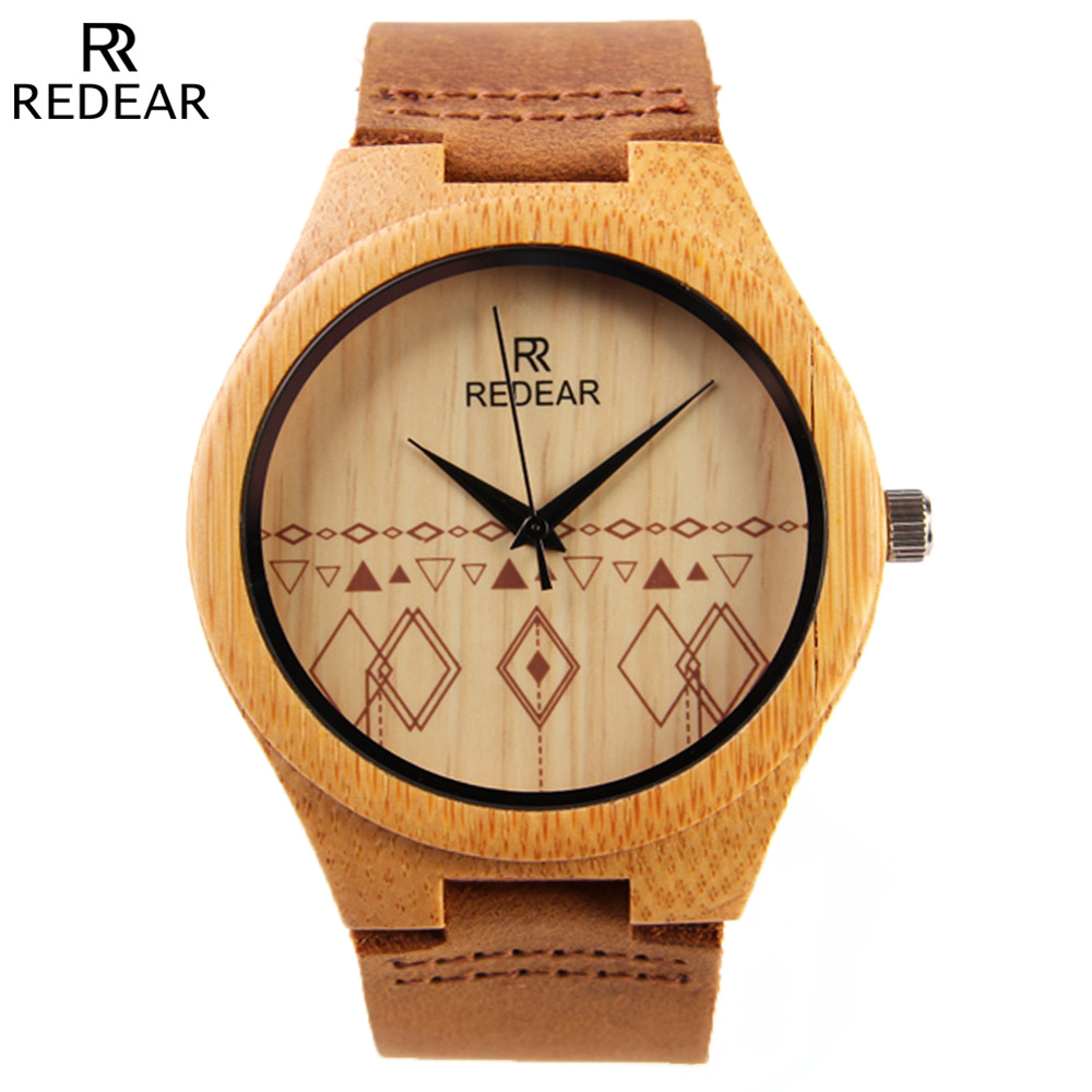 Mens Wood Watches New Brand REDEAR Sport Watch Men Na