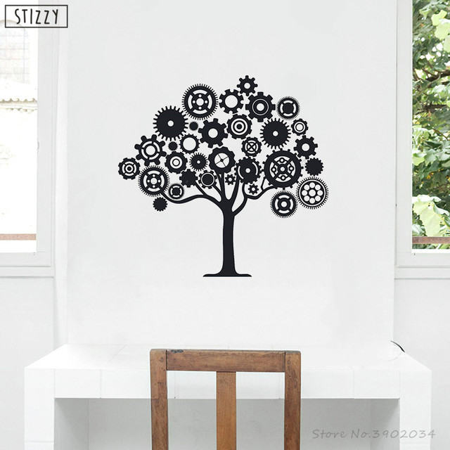 stizzy wall decal creative steampunk tree vinyl wall stickers decals