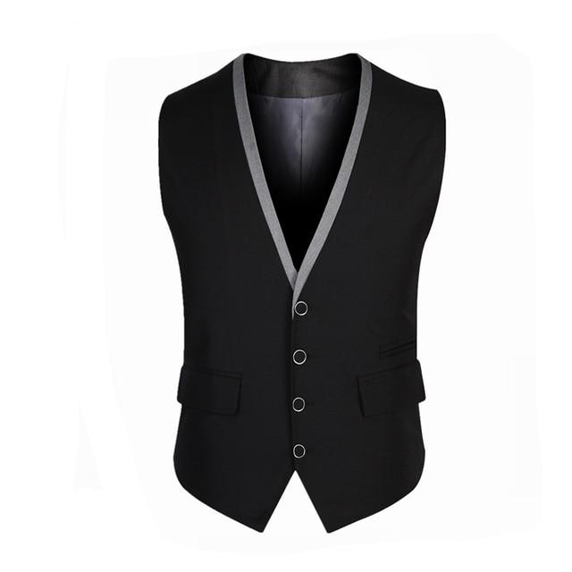 2016 Nova Chegada Terno Masculino Dos Homens Terno Colete Primavera Outono Vestido Da Forma dos homens de Negócios Blazer Tops Slim Fit Sólidos colete