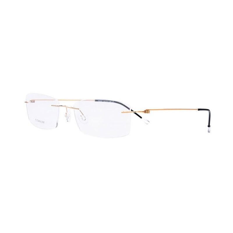 Image 5 - Titanium Rimless Rectangular Shape Eyeglasses Optical Frame for Men and Women Eyewear-in Men's Eyewear Frames from Apparel Accessories