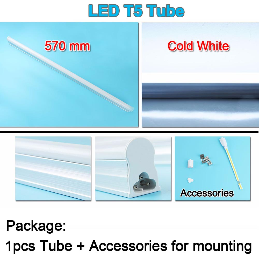 EU 220v 10w LED Tube T5 / 1.5m Switch Cable Wire / 30cm Double-End ...