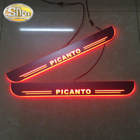 SNCN 4PCS Acrylic Moving LED Welcome Pedal Car Scuff Plate Pedal Door Sill Pathway Light For Kia Picanto 2015 2016 2017 2018