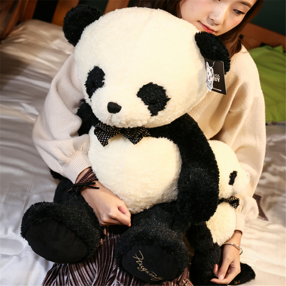 Fancytrader Cute Giant Plush Panda Bear Toys Big Fat Panda Animals Play Doll for Kids Gifts 80cm/60cm lovely giant panda about 70cm plush toy t shirt dress panda doll soft throw pillow christmas birthday gift x023