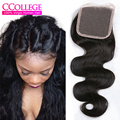 Mink Brazilian Body Wave Closure Glamor Queen Hair Brazilian Body Wave 4*4 Virgin Human Lace Closure Cheveux Bresilien Hair