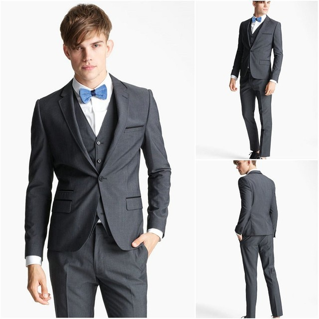 Handsome Boys Dress Wear Italian Tuxedo Grooms Suits For Beach Weddings  Holiday Party Suit fraque do noivo(Jacket+Pants+Vest) 8ae4b04502ce