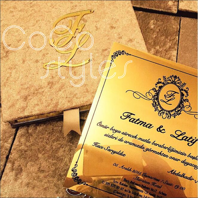 cocostyles diy high end velvet hard cover invitation card box with