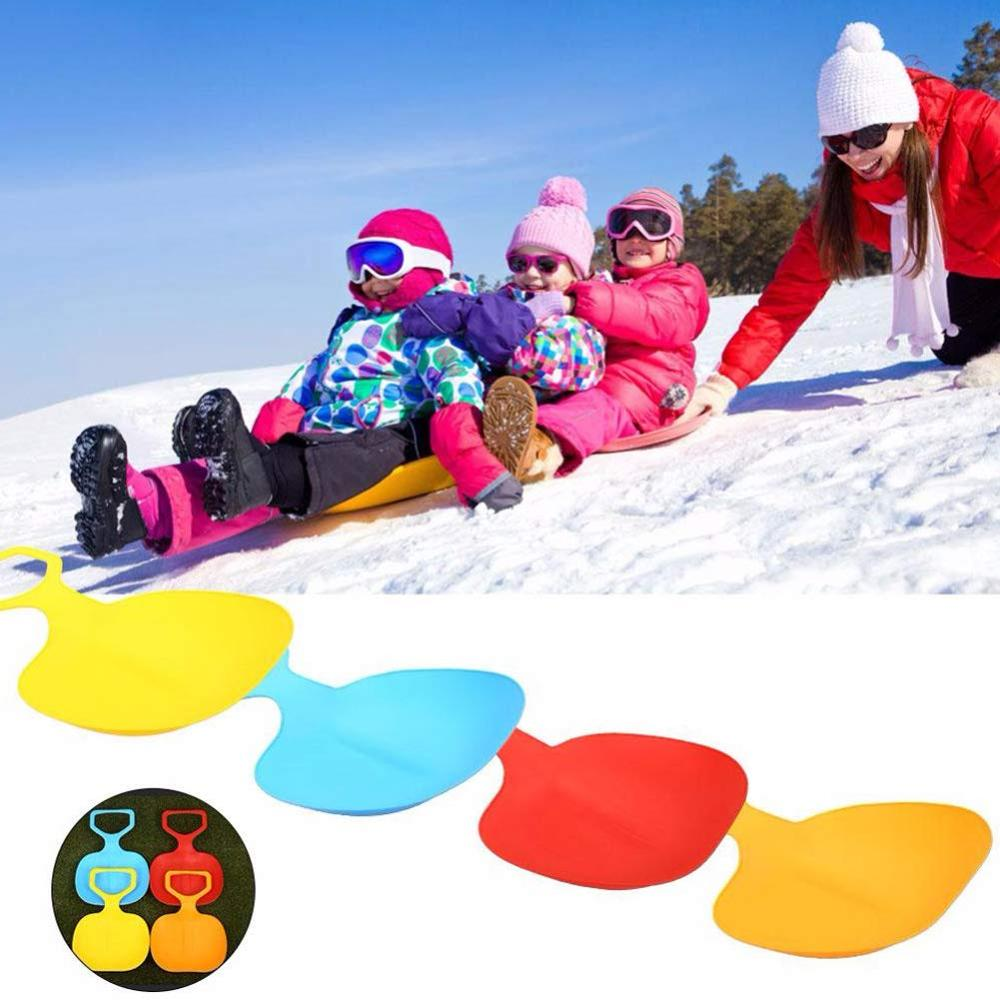 Zerlar Plastic Snow Sled Ski Board Toboggan Sled For Adult Kids Playing On Snow Grass Sand