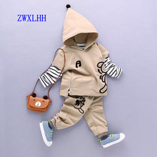 1-6Y new style Boy clothing set kids sports suit children tracksuit Tshirt pant baby sweatshirt character casual clothes