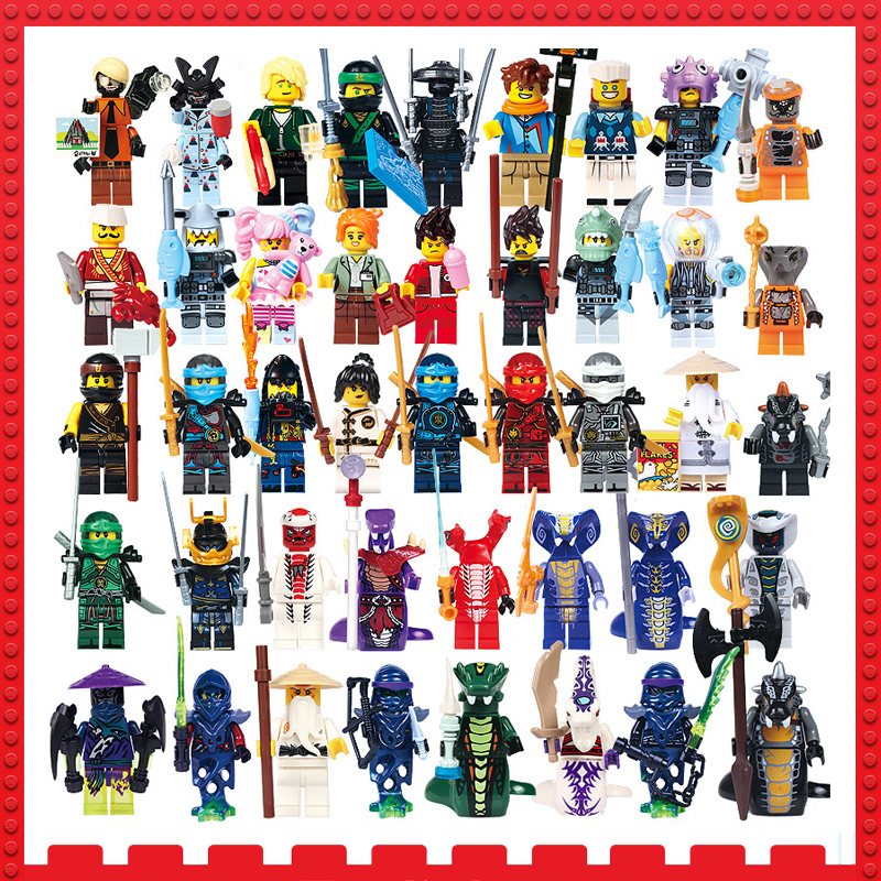 Ninja Model Building Block figures toys for Children Sharkman Garmadon  Master Wu gifts with Ninjago NYA LegoINGlys bricks Toys 2018 hot ninjago building blocks toys compatible legoingly ninja master wu nya mini bricks figures for kids gifts free shipping
