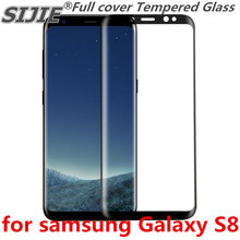 Full cover Tempered Glass for samsung Galaxy S8 S 8 GalaxyS8 G950F G950FD G950 5.8 inch Screen Protective Black frame all edge цена и фото