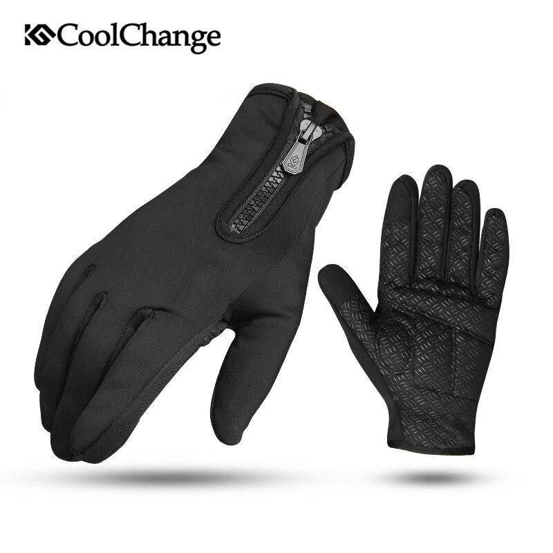 CoolChange Winter Radfahren Handschuhe Thermische Warme Winddicht Vollfinger Fahrrad Handschuhe Anti-slip Touchscreen Fahrrad Handschuhe Männer Frauen