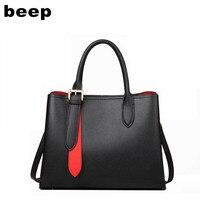 Beep 2020 New women Genuine Leather bag Luxury fashion Superior cowhide tote women handbags shoulder crossbody bags for women