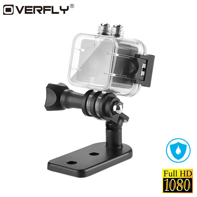 Overfly Mini Camcorders SQ12 HD 1080P Waterproof Night Vision Mini Camera DV Video Voice Action Recorder Outdoor Mini Camera