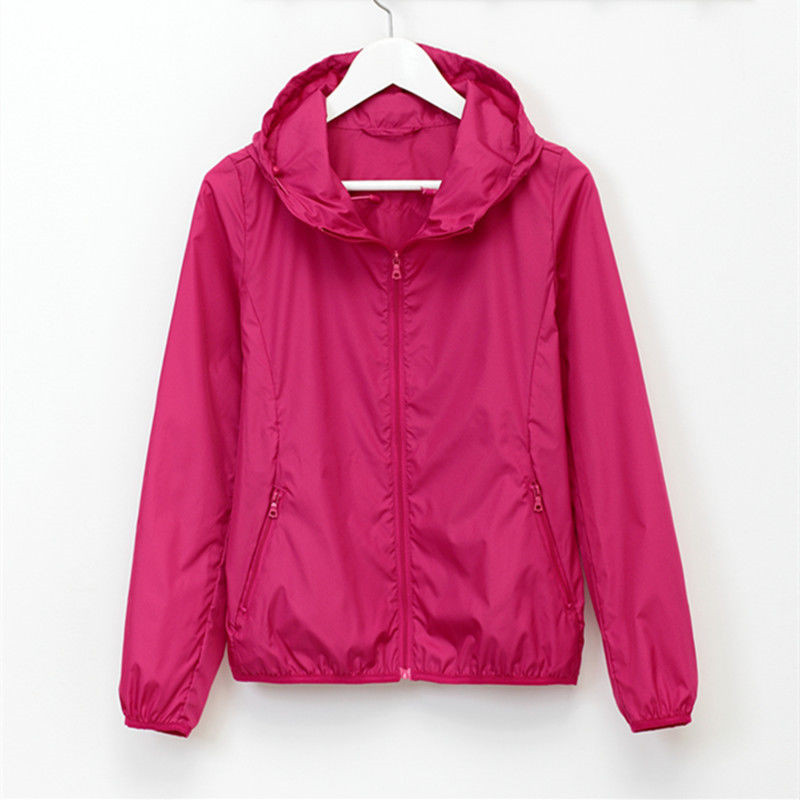 Summer sun UV protection outwear Outdoor sports running lightweight   jacket   Woman Man New Plus size coat Solid color   basic     jacket