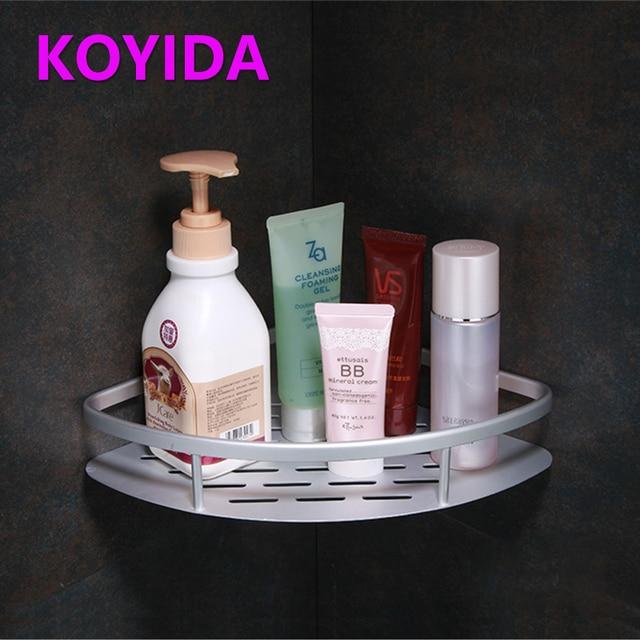 Koyida E Aluminum Bathroom Accessories Bolt Shower Corner Shelf Silver Single Tier Metal Wall Shelves Storage