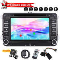 For Volkswagen for Golf In console Car Stereo DVD Player GPS map Navigation 2din Car Radio Supports CANBUS+Rear Camera Optional
