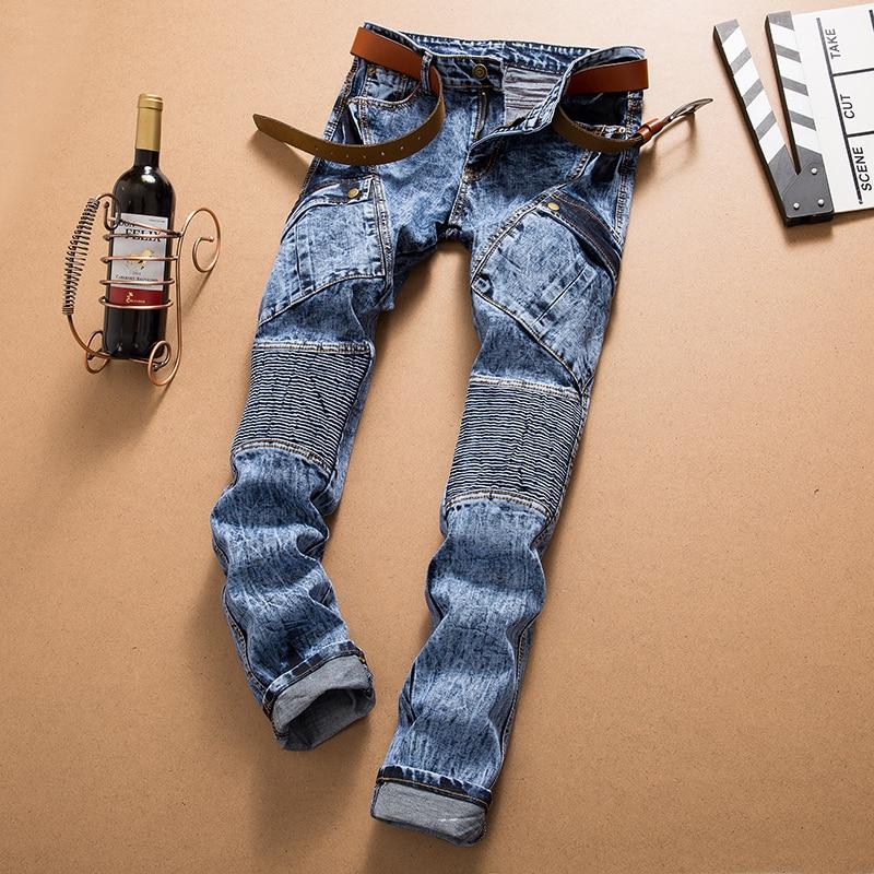 European American Style font b men b font font b jeans b font luxury brand font