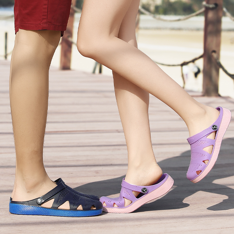 2018 Summer New Lovers Sandals Unisex Breathable Slippers For Men Candy Color Jelly Shoes Beach Slippers