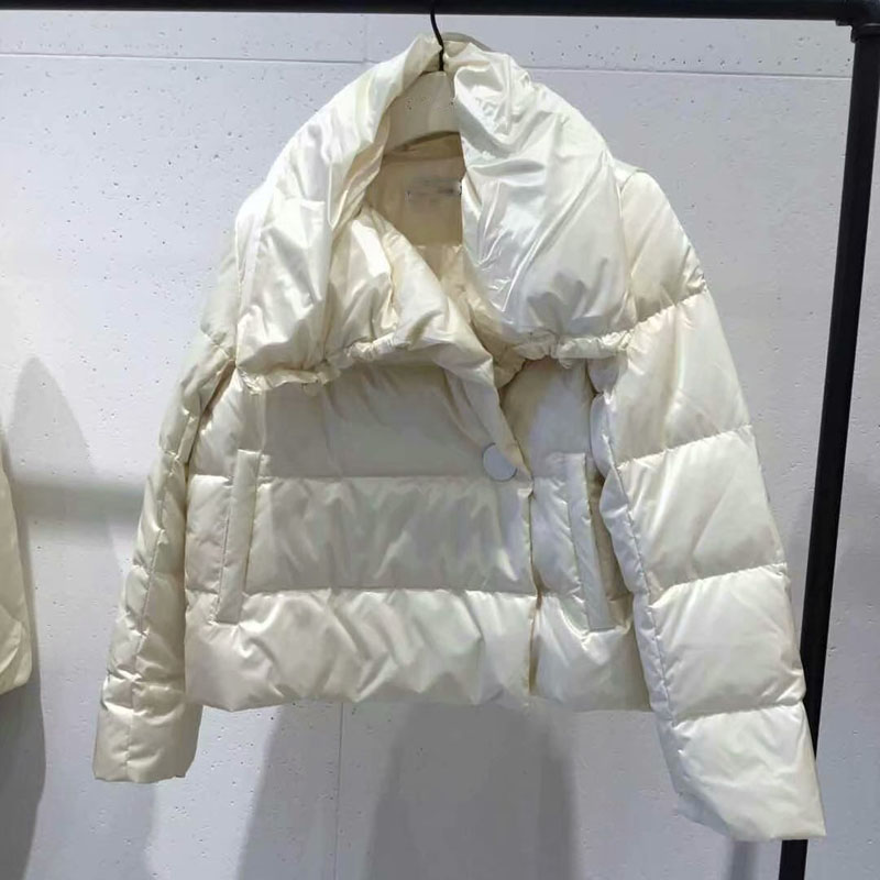 Discount promotions Winter fashion brand good quality real duck   down     coat   female single button warm   down     coats   wq587 dropship
