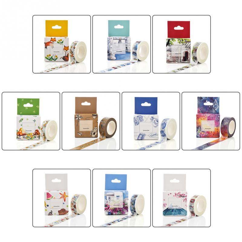 15mm*10m Box Package Cute Fox House Washi Tape Masking