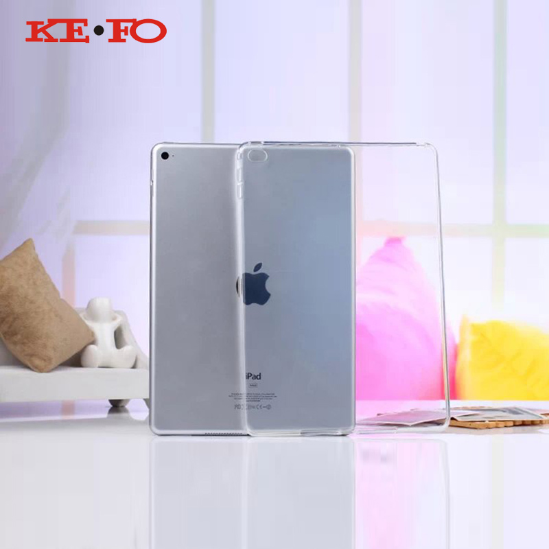 Full clear Transparent TPU Back Case Cover Silicone For Apple iPad Air 2 9.7'' P
