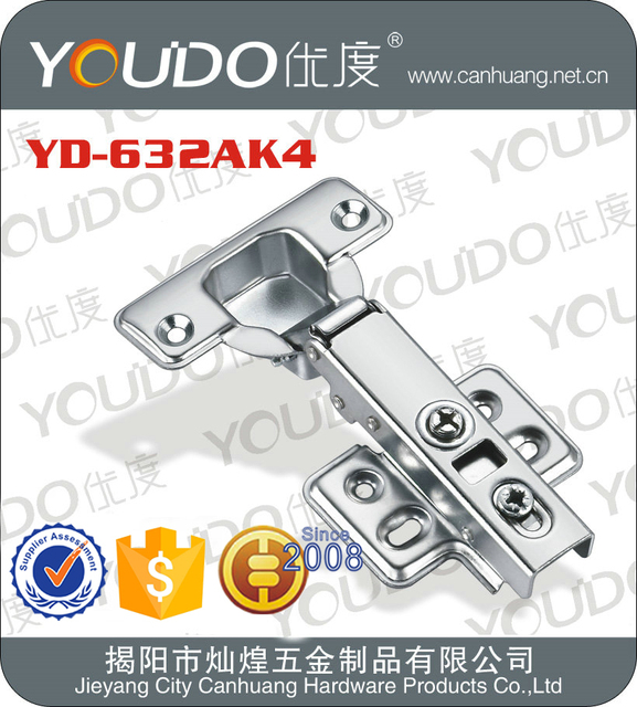 Full overlay stainless steel hydraulic cabinet hinge SLIDE ON