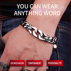 316L Stainless Steel Wholesale Price Punk Bracelet Nordic Viking Jewelry For Man Drop Shipping fashion jewelry LBC8-006