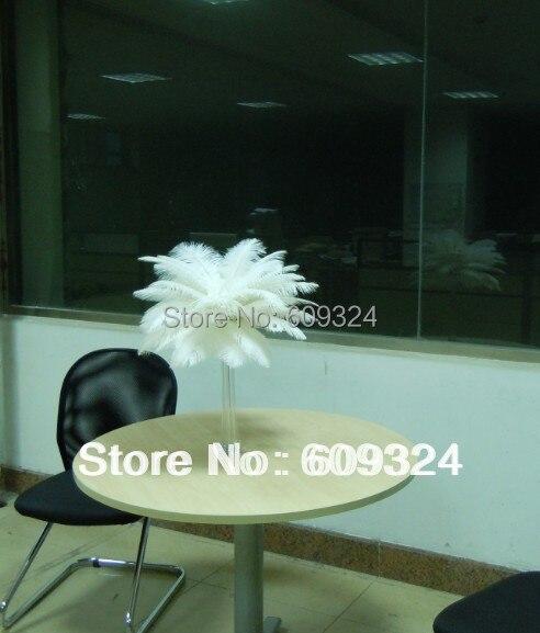 Префект Натуральный Белый страус Перо 10-12 дюймов Свадебные украшения Eiffel центральные, украшение стола