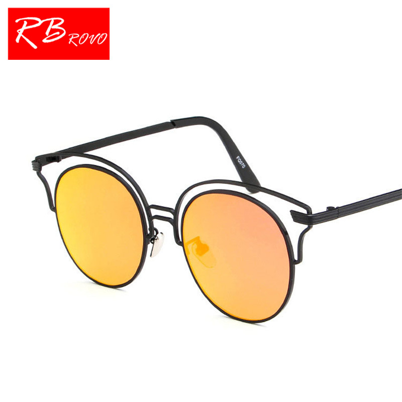 RBROVO 2018 Luxury Metal Frame Sunglasses Women Brand Designer Man/Women Sun Glasses Classic Vintage Shopping UV400 Outdoor