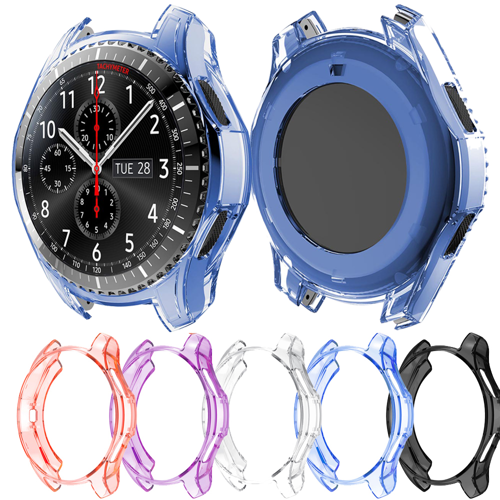 TPU Case Cover For Samsung Galaxy Watch 46mm Watch Transparent Silicone Shell Protection Case Shockproof Protective Cover Frame
