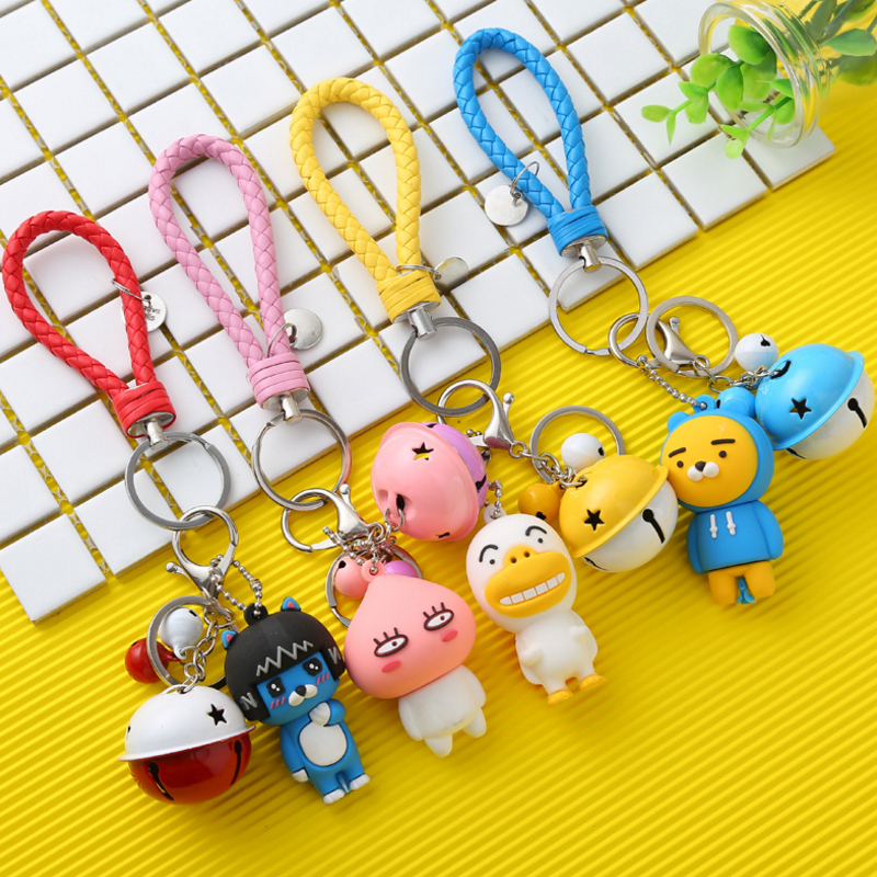 1PCS Creative Cocoa Friends Figures Toys Cute Cartoon Ryan Muzi Apeach Neo Frodo Dolls Keychain Key Bag Pendants Gifts