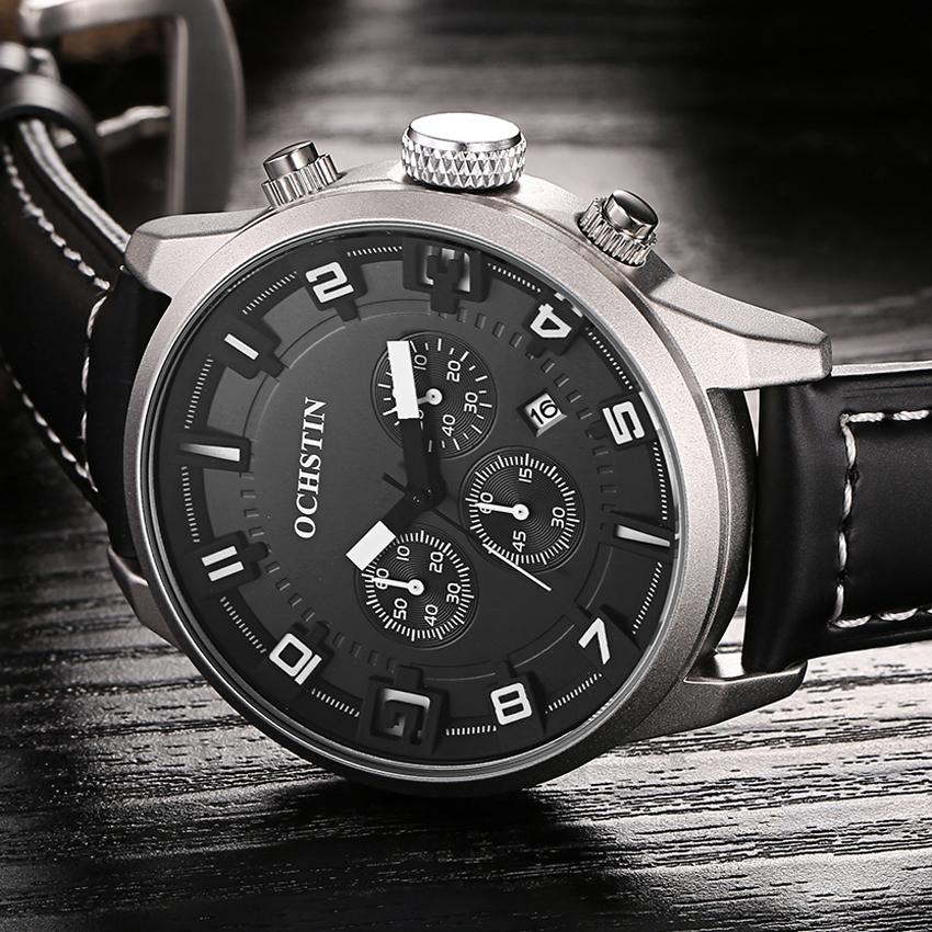 Prix pour Mode Quartz Militaire Sport Montre Hommes De Luxe de Marque Casual Montres Hommes Montre-Bracelet Armée Horloge En Cuir relogio masculino Heures