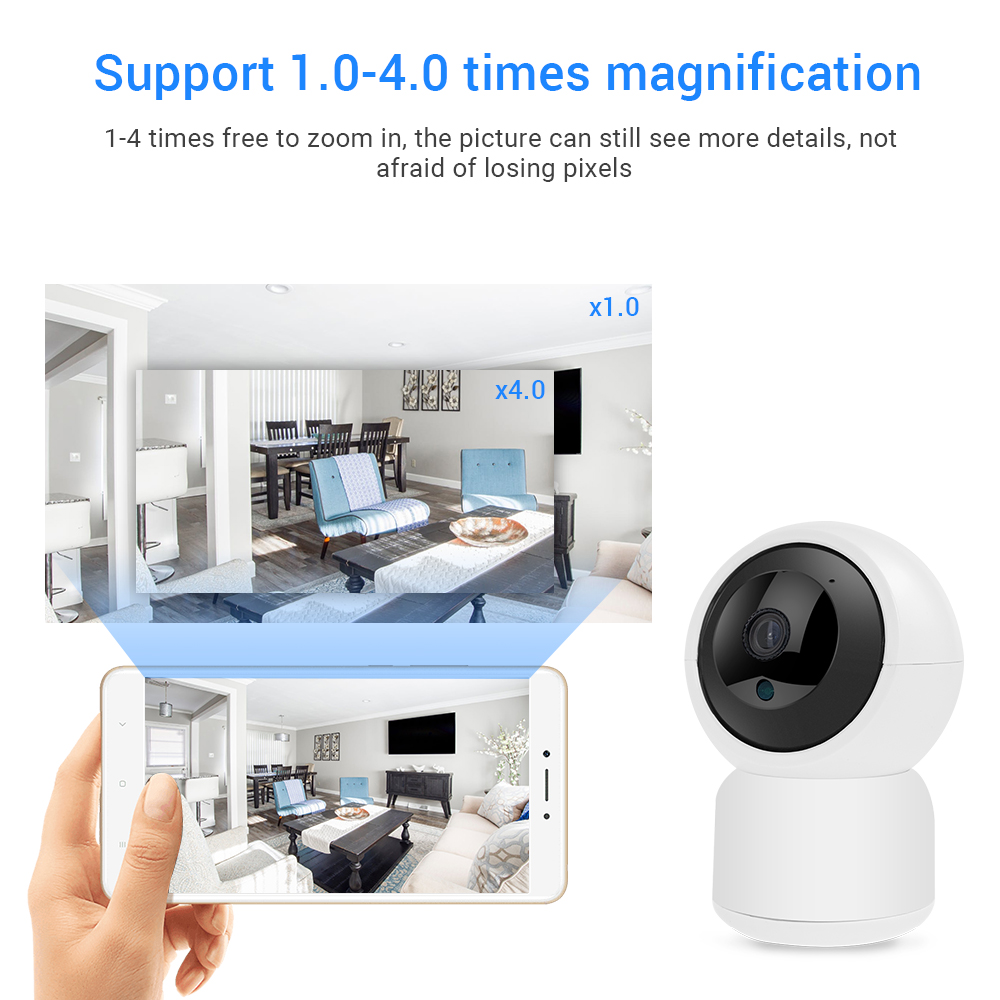 Defeway IP Camera 1080P HD Home Security Wireless Camera Night Vision Wifi IP Camera Auto Tracking Home Camera P2P Mini Camera in Surveillance Cameras from Security Protection