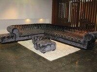 North European Style Furniture Simple Modern Cloth Sofa Coffee Shop Decoration Sofa Chesterfield Sofa