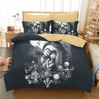 Quality Nightmare Before Christmas Duvet Bed Cover Sets Jack And Sally 100% Microfiber Beddings And Bed Sets Luxury Duvet Cover