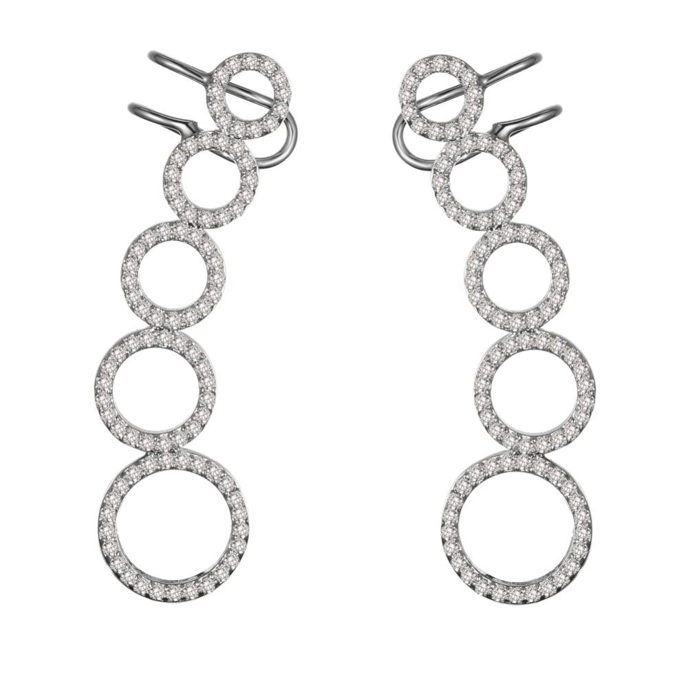 KIVN Fashion Jewelry Stylish CZ Cubic Zirconia Womens Girls Bridal ...
