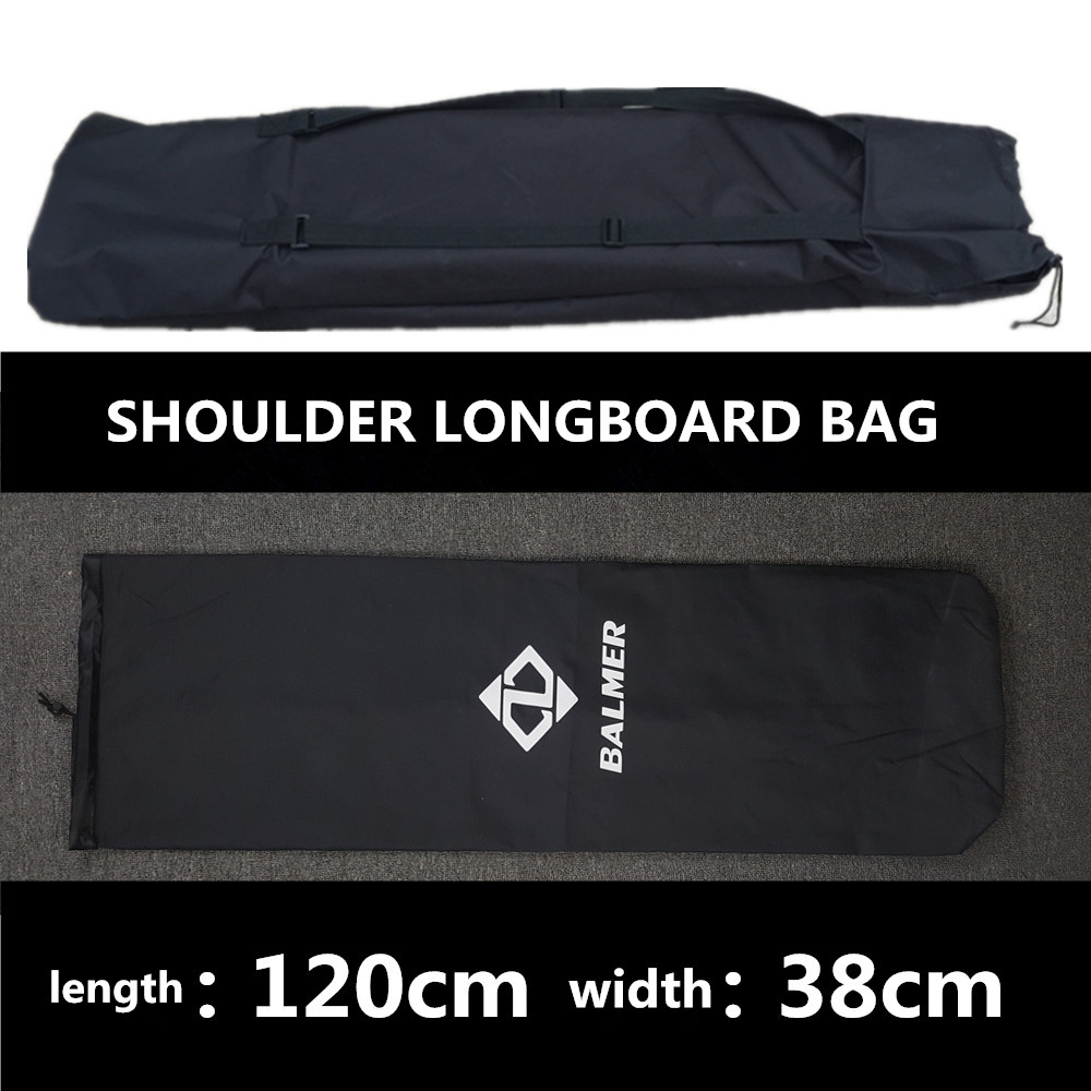 Image 3 - 120X38cm Longboard Bags Black Long Board and 78X28cm fishboard bag Skateboard Backpack Double Shouler Bags-in Skate Board from Sports & Entertainment