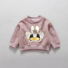 Baby boy Girl Hoodie fleece winter coat sweater girls cartoon rabbit child baby outfits children clothing wholesale