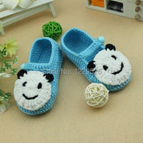 Blauer bär schöne babyschuhe/häkeln babyschuhe/neugeborenen schuhe/stiefel/booties/babykleidung/neugeborenen bis zu 12 monate