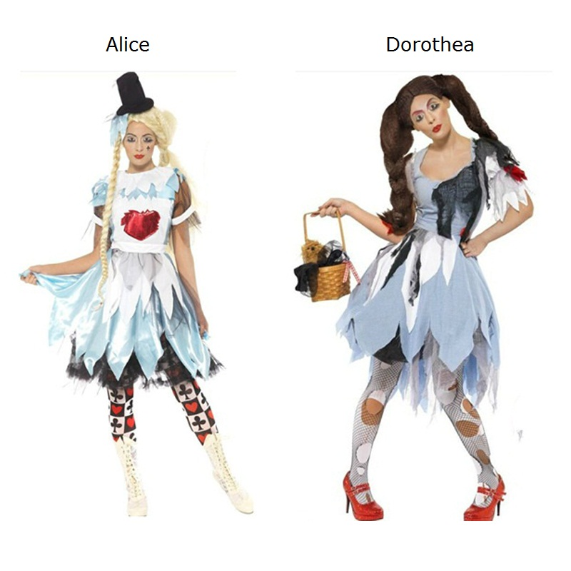 Women Dress Anime Cosplay for Alice in Wonderland and Dorothea Fancy Maid Dress Lolita Vestidos Costume Adult Halloween Carnival