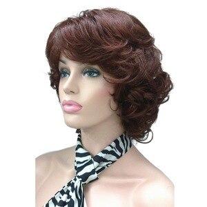 Image 2 - StrongBeauty frauen Synthetische Perücken Natürliche Lockige Perücke Medium Schwarz/Blonde Haarteil Haar Perücke