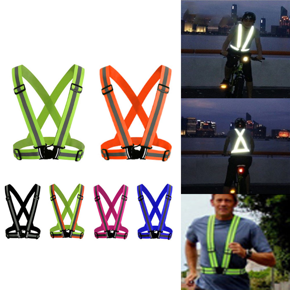 High visibility reflective vest men and women overalls fit for night running cycling outdoor safety clothing